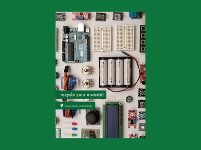 Poster design - recycling e-waste