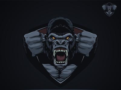 Gorilla Mascot Emblem Logo