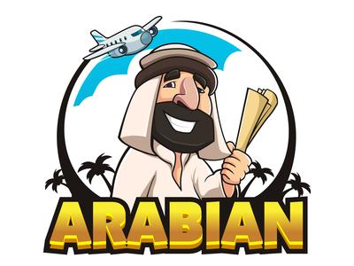 Arabian Travel Mascot Logo