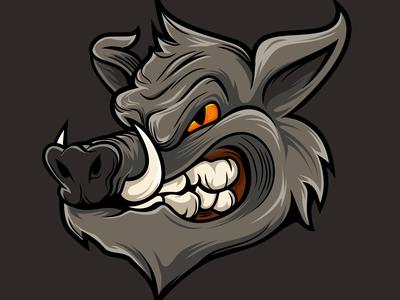 Baddas Wolf Angry Head