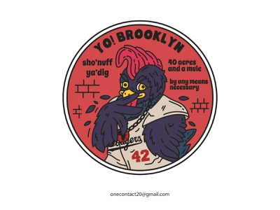 Yo  Brooklyn merch design merchandise merch apparel design pin patch patch design sticker design stickers vintage badge tshirt design vintage illustration badgedesign illustrator design monoline graphic design illustration hiphop rapper