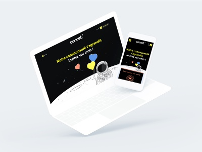 Comet - Referral Program webpage comet webdesign