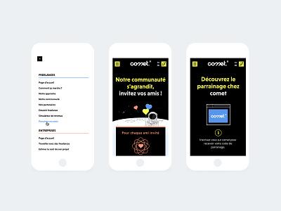 Comet - Referral Program webpage design comet webdesign