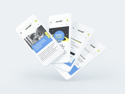 Comet - new blog branding typography design web ui webpage blog webdesign comet