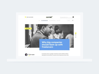 Comet - new blog website web typography branding blog ui webpage design webdesign comet