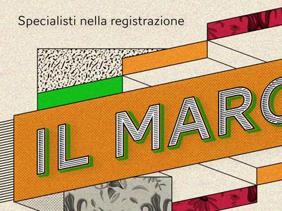 Il marchio vintage lettering typography illustration 70 matteo riva crockhaus retro orange larancia marchio