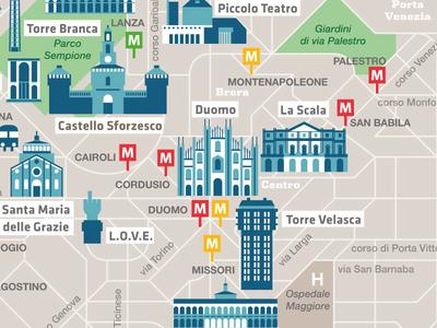 Milano  crockhaus riva matteo duomo 2015 expo detail map milan