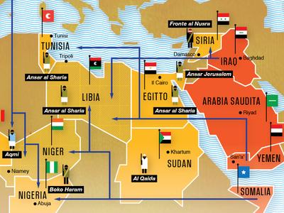 La nuova Al Qaida su Panorama panorama al qaida nel mondo world new map infographic crockhaus matteo riva