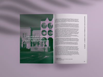 Kerényi booklet graphicdesign postmodernism 80s history architecture typography editorial booklet