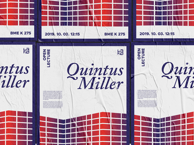 Quintus Miller Lecture Poster building illustrator graphic design poster a day posterdesign plakat architecture poster
