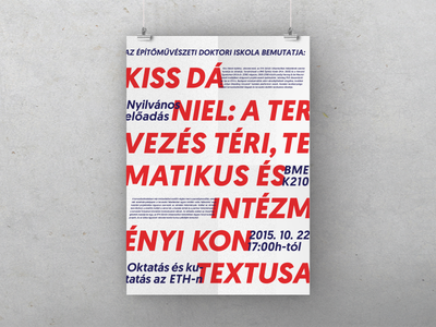 Lecture poster zurich eth daniel kiss bme budapest open lectures lecture architecture