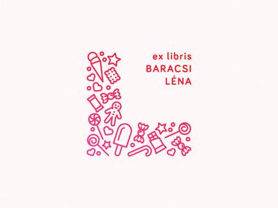 Léna's bookplate