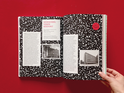 dla book 2 black and white red architecture 60s 70s terrazzo shooting editorial book