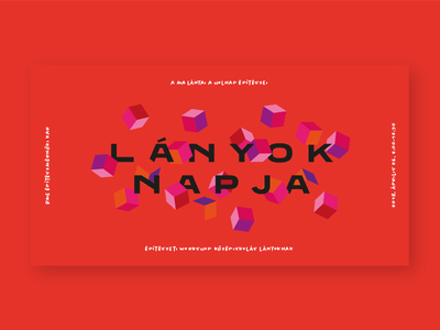 lányok napja – girls' day event branding flying cubes cubes cube purple orange pink red event day girls cover