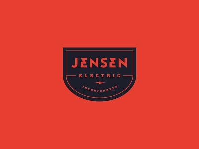 Jensen Electric logo electric badge lighting bolt bolt incorporated