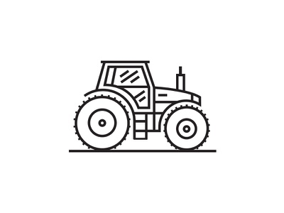 Tractor tractor icon agriculture line