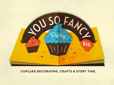 You So Fancy cupcakes storytime flip book sprinkles email