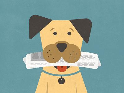 Puppy  dog puppy newspaper leash