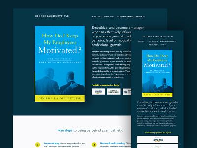 Langelett empathy workplace website responsive book mobile