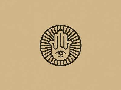 JW Logo clay stamp logo circle rays evil eye hamsa ceramics jw