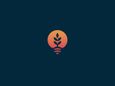 Funding Farm shadow startup investment agriculture farm funding sun gradient crops lightbulb