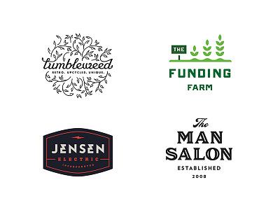 LogoLounge 10 investment funding farm tumbleweed electric salon badge logo lounge lounge logo branding