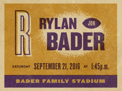 Rylan texture vintage announcement birth football ticket sports