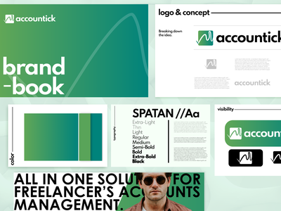 Accountick  | Accounting Platform Visual Identity typo brand design brand guidelines minimal logodesigns brand guideline identity logo designer style guide logo design graphic design typographhy gradient color user experience accounting minimal design brand book brand identity branding