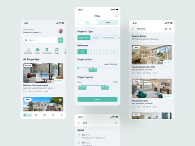 Property App Exploration sell rent house company android ios ui app design app design busssines agency saas b2b real estate ux property