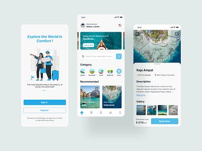 Travel App bussines design app android ios app design ux company b2b saas aplication travel mobile ui