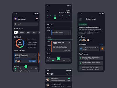 Task Manager App taskmanagement ux mobile taskmanagerapp application android ios design app design b2b saas app ui