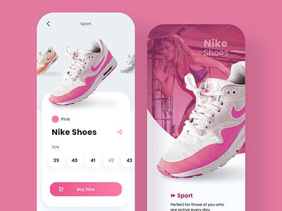 Nike Sport Shoes UI Design Exercise ecommerce design ecommerce shop ecommerce app ecommerce sportapp userexperiencedesign userinterfacedesign interactiondesign userexperience userinterface uxdesign uidesign uiuxdesign uiux nikeshoes nike