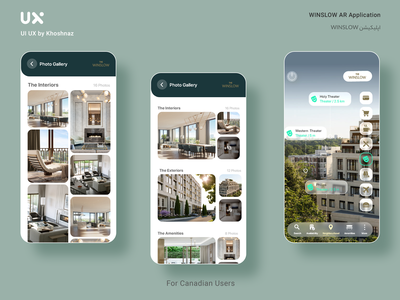 WINSLOW AR Application application freelancing freelance uxresearch design uiuxdesign ux ui ui  ux branding application design