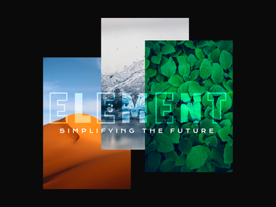 Element product typography minimal branding design