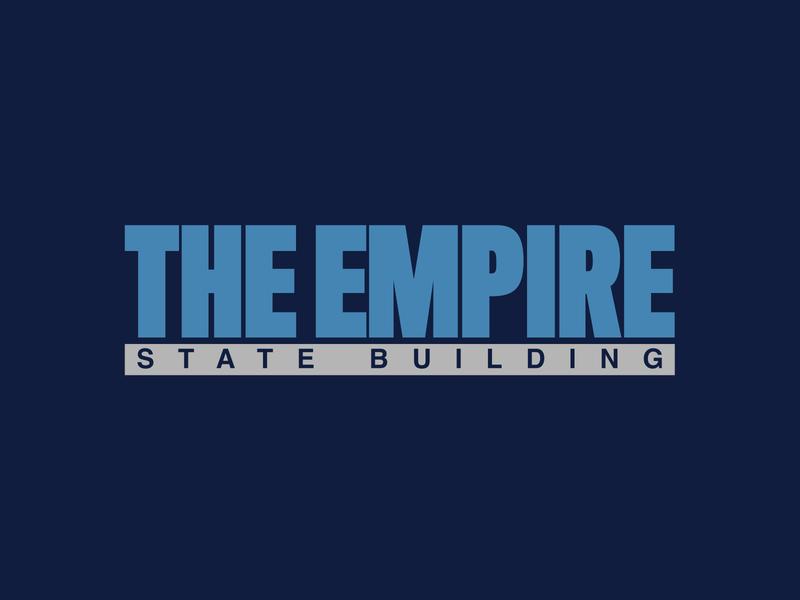 The Empire State Building typography minimal branding design