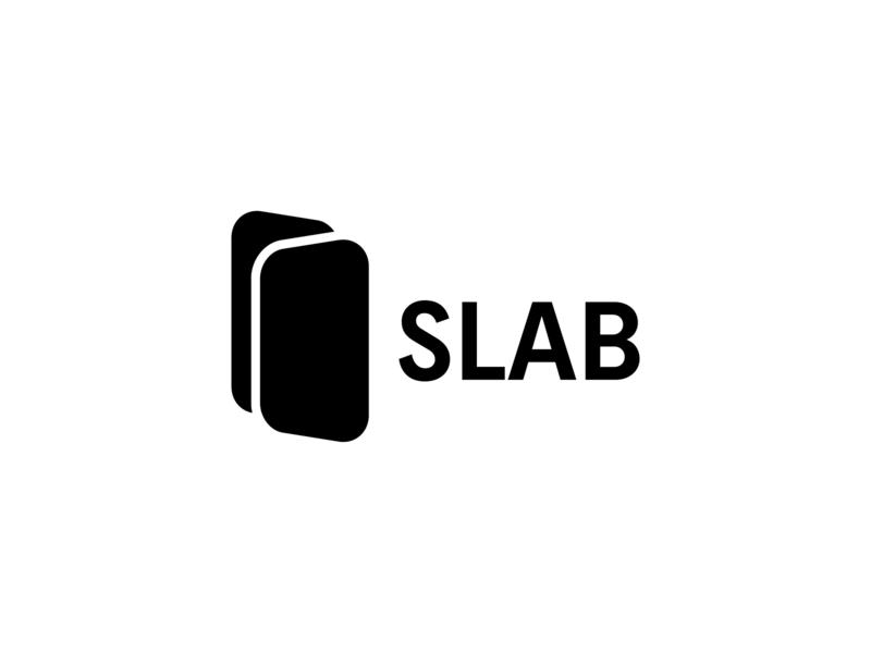 SLAB logo typography minimal design branding