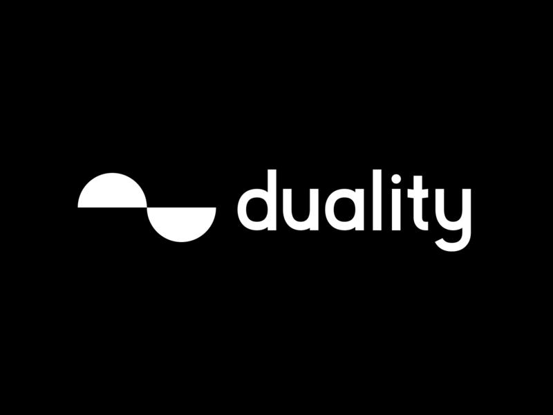 duality typography minimal branding design