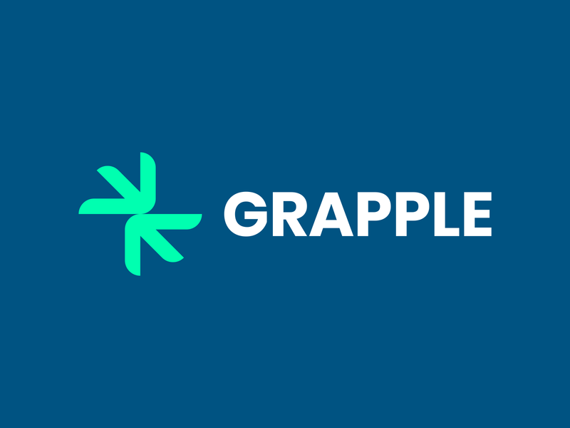 Grapple icon type logo typography minimal design branding vector