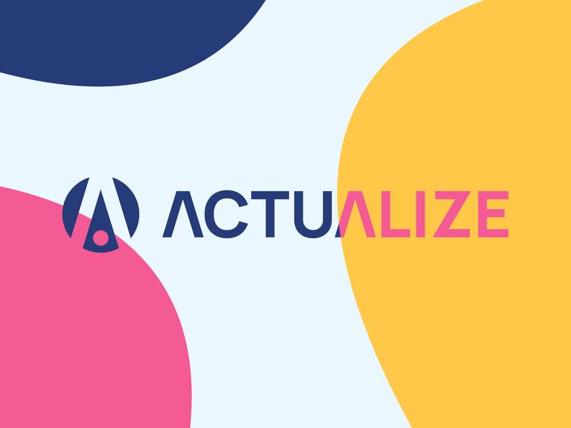 Actualize website web vector icon product logo minimal typography branding design