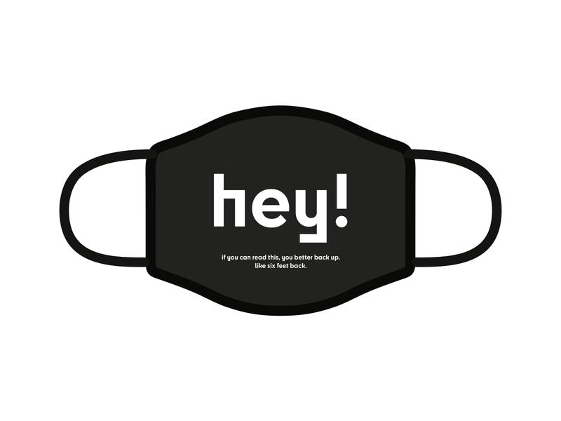 Design For Good Face Mask Challenge minimal typography design