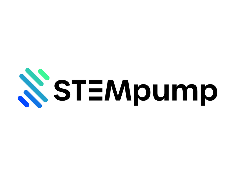 STEMpump web ui vector icon product logo minimal branding typography design