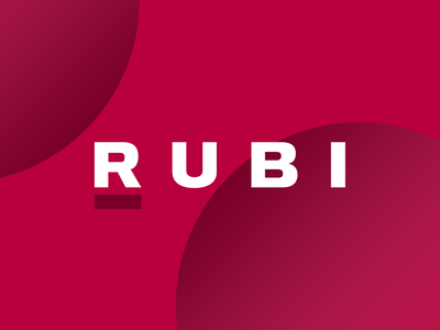 Rubi type vector product minimal branding typography design