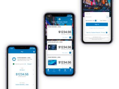 Chase Mobile App Redesign ux design ui