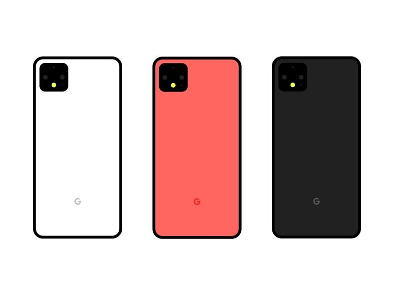 Pixel 4 product design vector