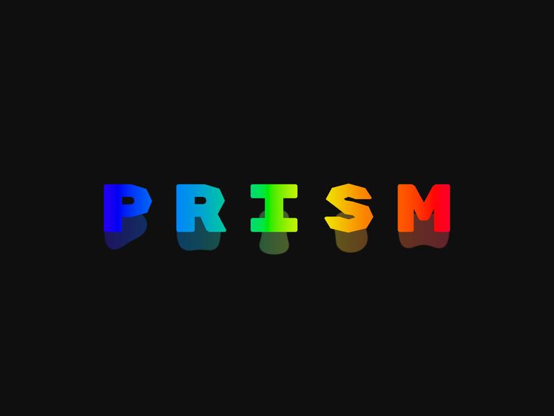PRISM type minimal web website product icon typography branding design