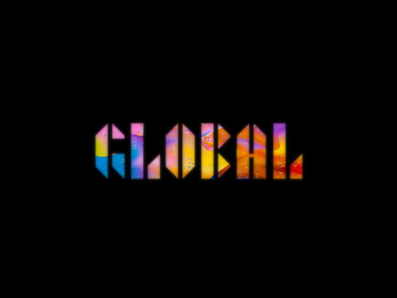 GLOBAL logo typography minimal branding design