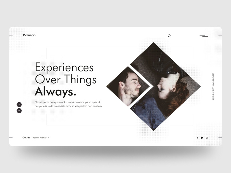 Dawson. minimal ui inspiration landing page homepage clean design white space minimal design web design web design ux ui minimal interface