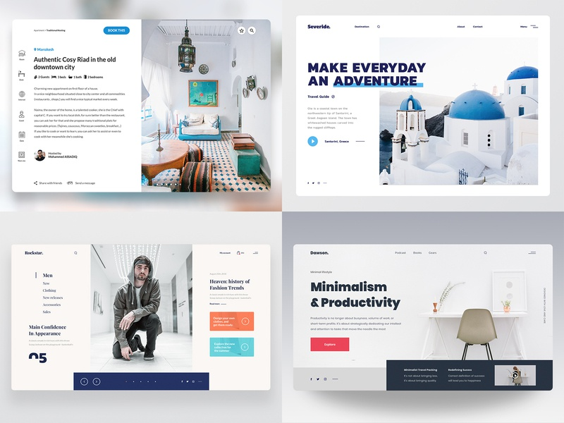 Best of 2018 experience user front end development web design 2018 interface design web ux ui top4shots minimal