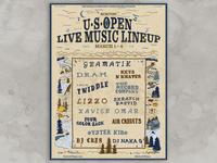 Burton USOpen Live Music Poster