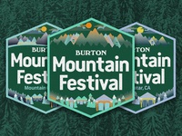 2017 Burton Mountain Festival Badges